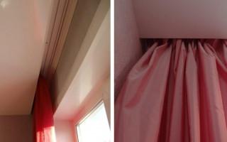 Jak instalovat stropní římsu pod napnutým stropem: instalace otevřených a skrytých záclon