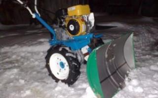 Domácí čepel (lopata) pro tahač za traktorem: video, fotografie, kresby | Green-Pages.info