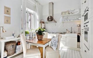 6 kroků designu kuchyně ve stylu Provence a 55 fotografií | Green-Pages.info