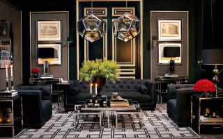 Obývací pokoj ve stylu Art Deco — luxus, brilantnost, pohodlí a ušlechtilost v každém detailu (foto)   Green-Pages.info