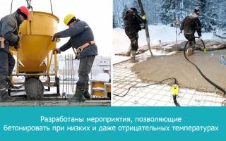 Betonářské práce v zimě