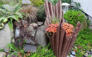 Jak udělat květináč pro zahradu z cementu a tkaniny | Green-Pages.info