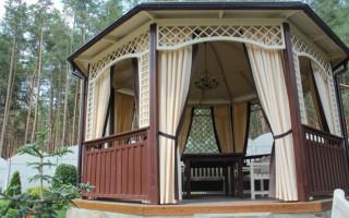 DIY závěsy pro altány a verandy: možnosti provedení | Green-Pages.info