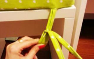 DIY židle polštář: krok za krokem mistrovské třídy | Green-Pages.info