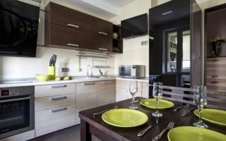 Interiér kuchyně 9 m2; tajemství úspěšného designu na fotografii | Green-Pages.info