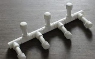 DIY PVC věšák na trubky: výkresy a fotografie | Green-Pages.info