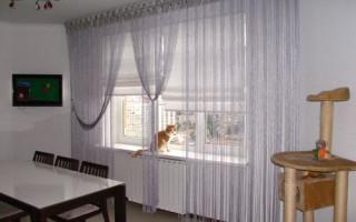 Filamentové závěsy v interiéru pokojů: foto možnosti   Green-Pages.info