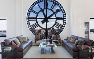 Výběr užitečného prvku interiéru: velké původní nástěnné hodiny do obývacího pokoje   Green-Pages.info