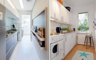 Úzký design kuchyně: nejlepší nápady a užitečné triky | Green-Pages.info