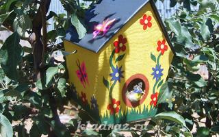 DIY lepenkové holubník | Green-Pages.info