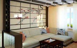 Obývací pokoj v japonském stylu; foto příklady, jak vytvořit harmonii v interiéru obývacího pokoje   Green-Pages.info
